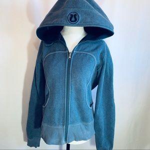 Lululemon Athletica Blue Scuba Hoodie 10